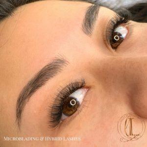 Microblading and Hybrid Eyelash Extensions