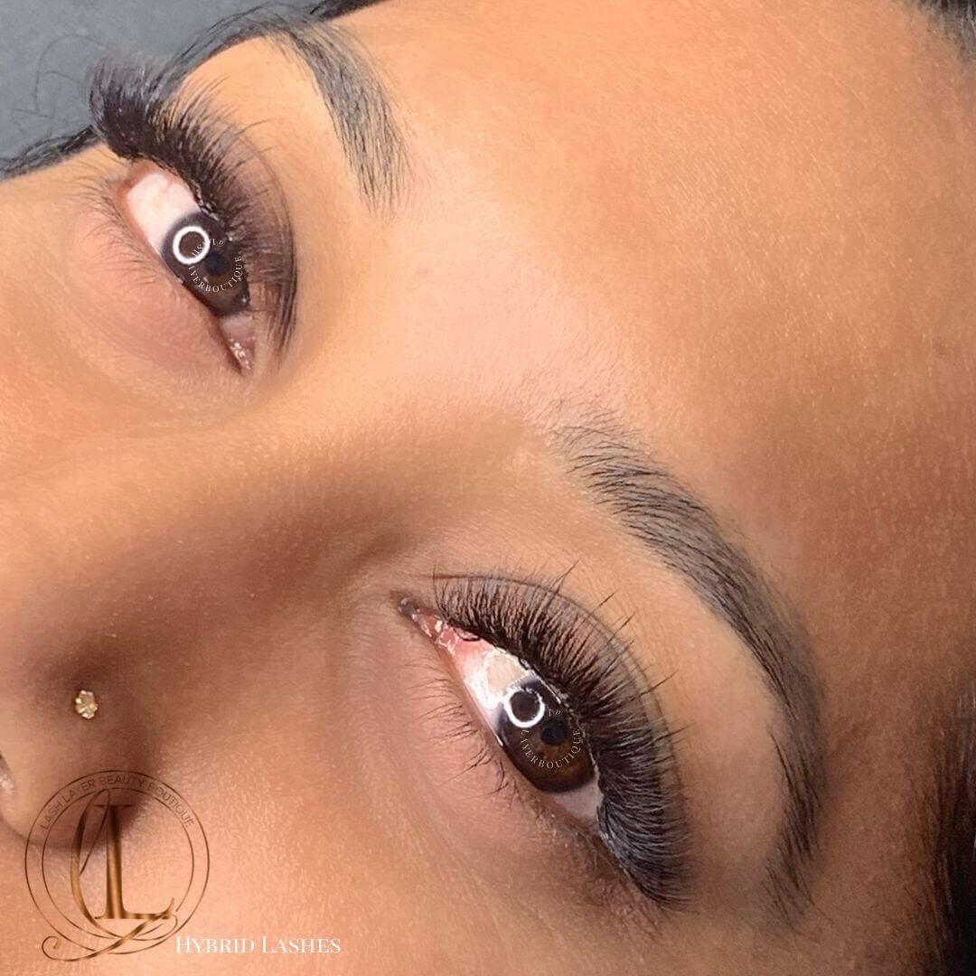 Hybrid Lashes on Brown Eyes
