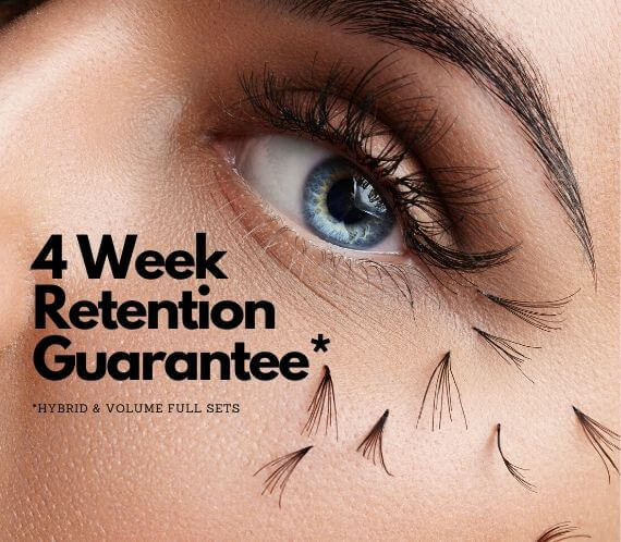 4 Week Eyelash Extension Retention Guarantee in Pickering