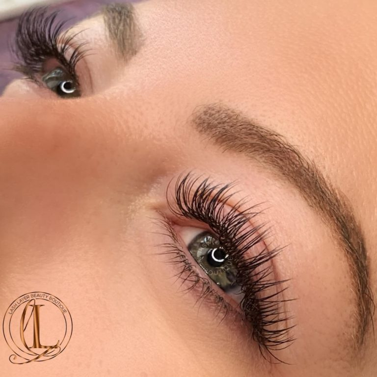 Classic Lashes Done at Lash Layer Boutique, Pickering, Ontatio