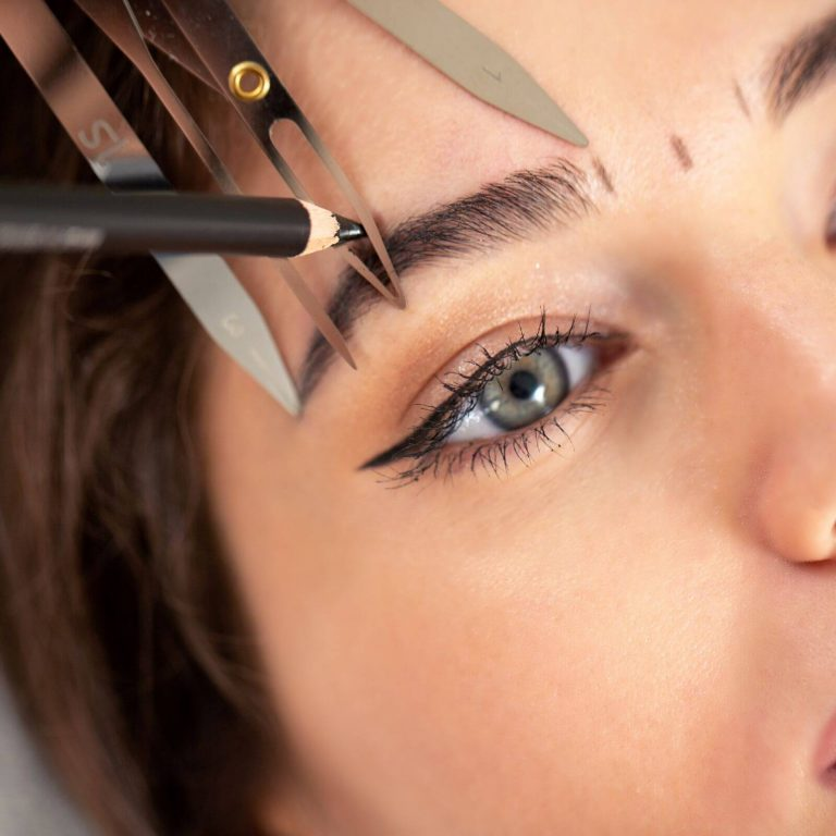 Measurement Of Eyebrows before Microblading