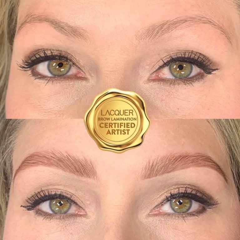 Eyebrow Lamination on blonde client