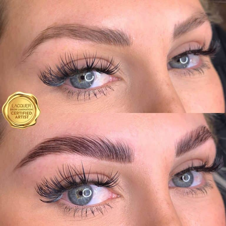 eyebrow Lamination before after