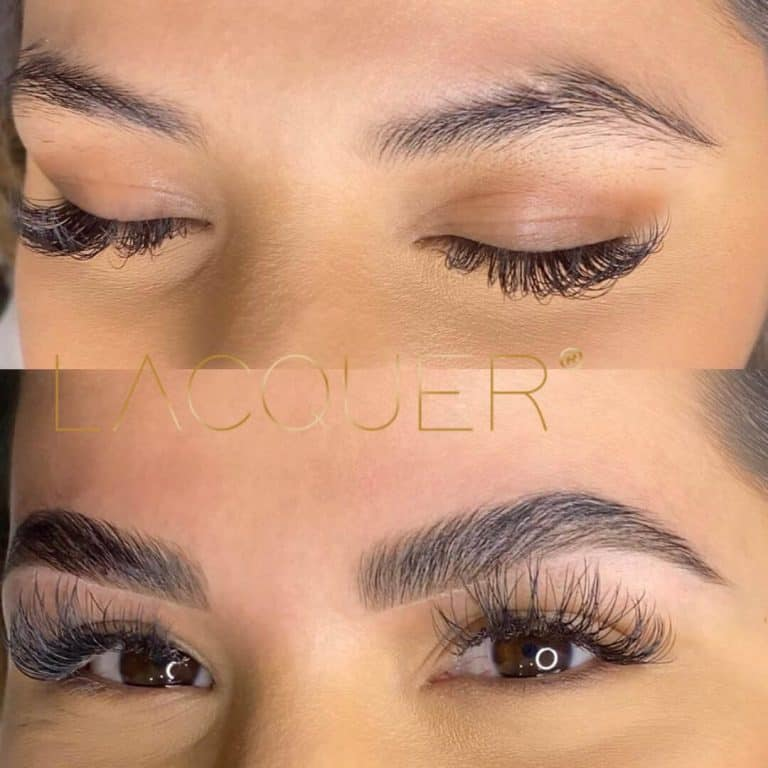 eyebrow lamination with Lacquer Product