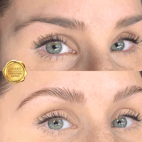 Brow Lift on Blonde client