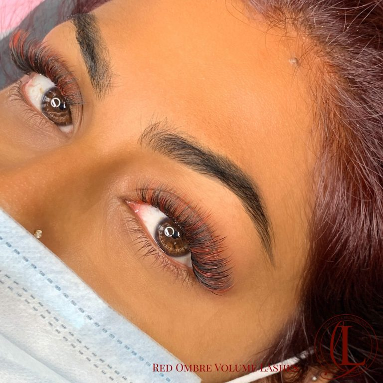 Red Eyelash Extensions Volume, Pickering