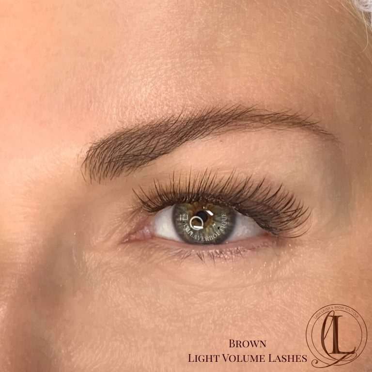 Brown Eyelash Extensions at Lash Layer, Pickering