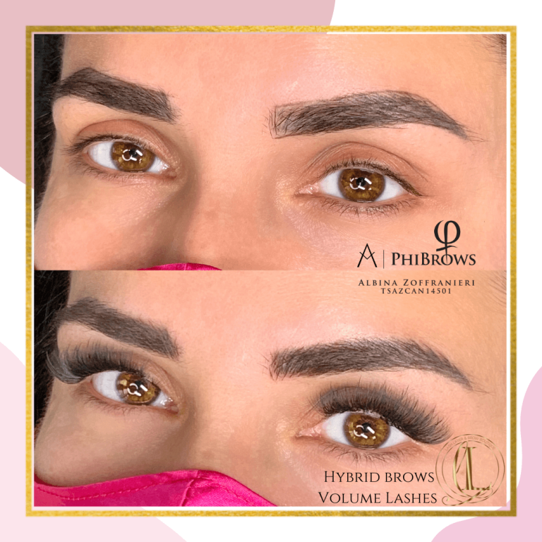 Before & After of Volume Lash extensions