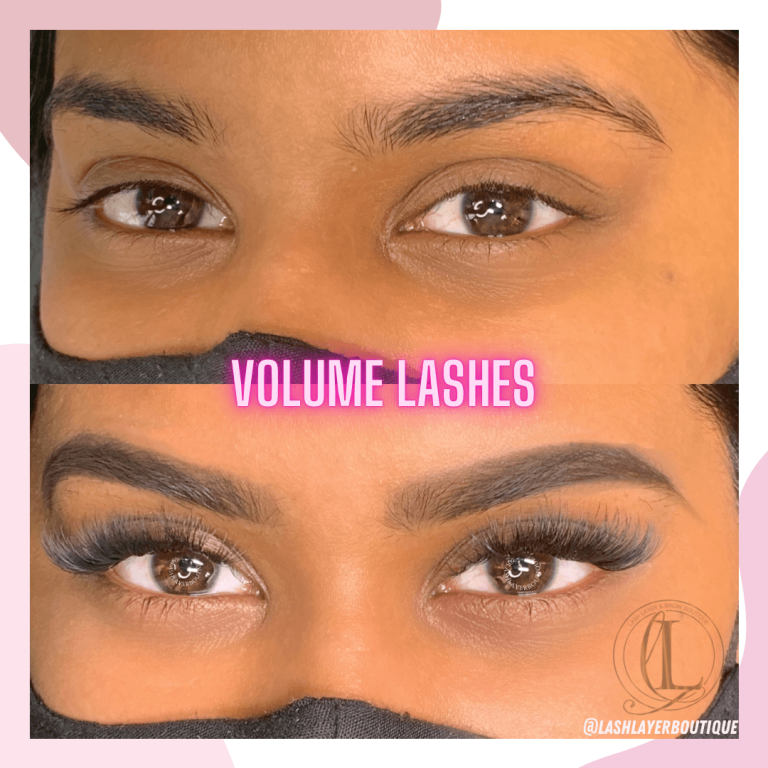 Before & After Eyelash extensions on indian woman