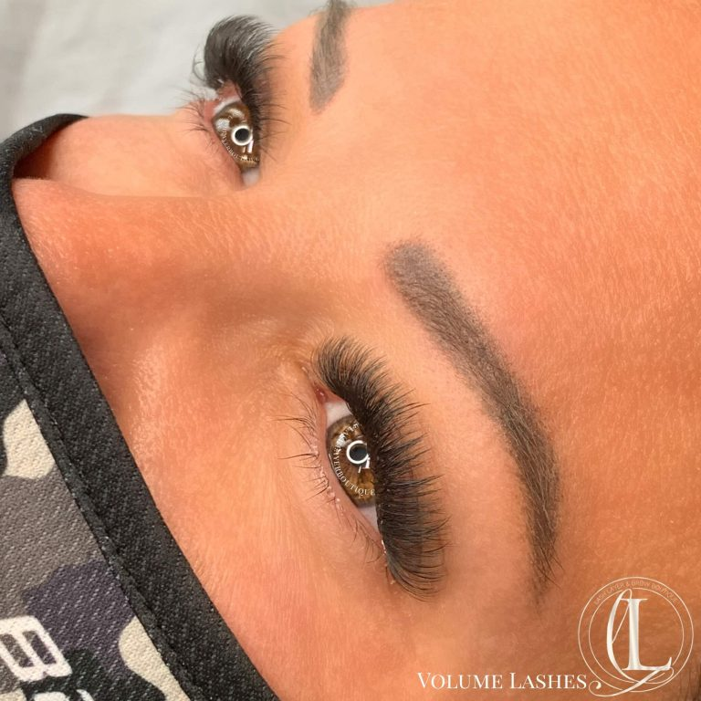 Volume Eyelash extensions done at Lash Layer & Brow boutique in Pickering.