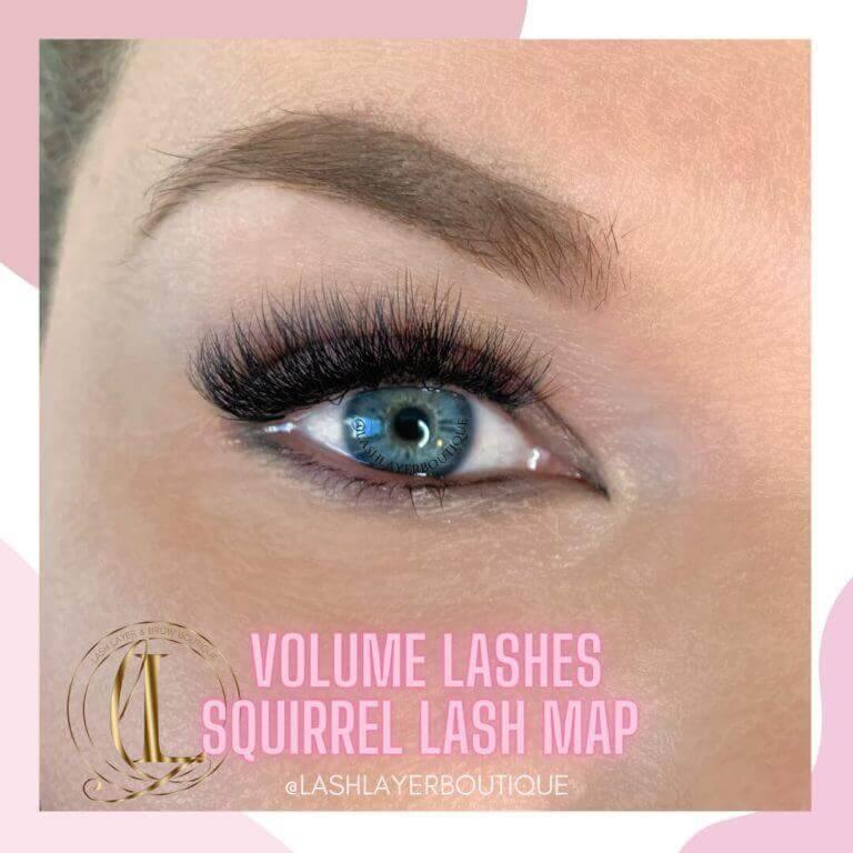 Volume Lashes on Blonde Oshawa Lash Layer Boutique