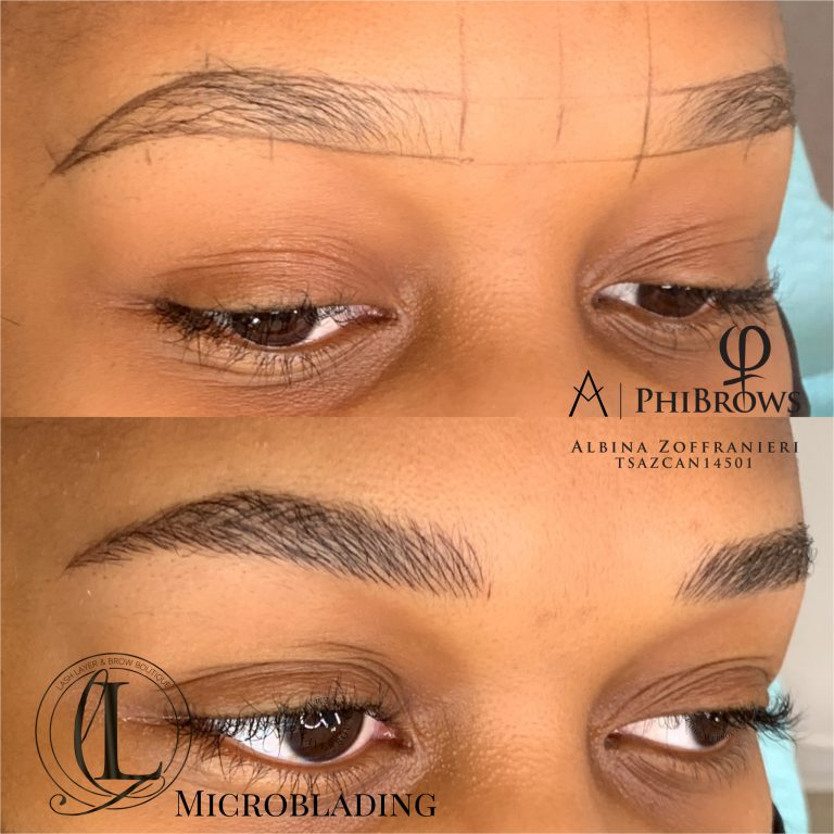 Natural Microblading eyebrows in Pickering