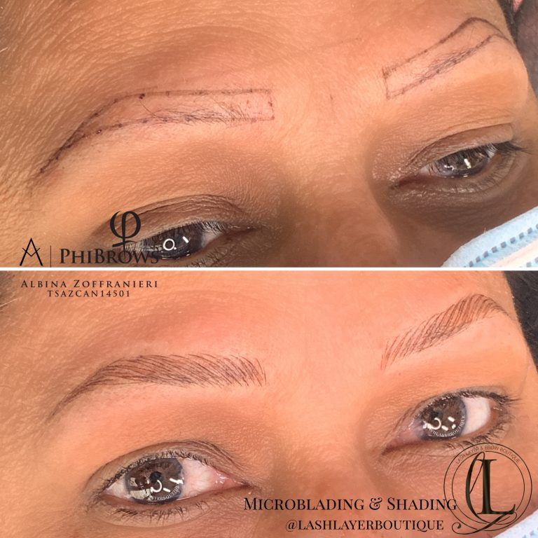 Microblading On Older Lady